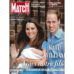 PARIS MATCH n°3349 25/07/2013  Kate&William: royal baby/ Saint-Tropez/ Kennedy/ Jackman