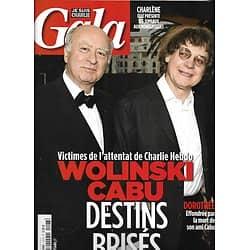 GALA n°1127 14/01/2015  Cabu/ Wolinski/ Charlie Hebdo/ James Dean/ Charlène de Monaco