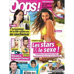 OOPS! n°141 26/07/2013  Les Stars & le sexe/ Nabilla/ Johnny Depp/ Kate Middleton/ Corey Monteith