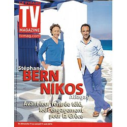 TV MAGAZINE n°21466 11/08/2013  Nikos Aliagas & Stéphane Bern en Grèce