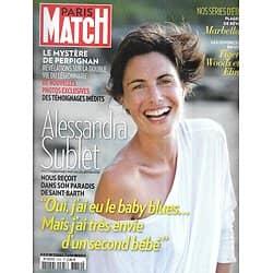 PARIS MATCH n°3352 14/08/2013  Alessandra Sublet/ Légionnaire Perpignan/ Plage de rêve: Marbella/ Tiger Woods