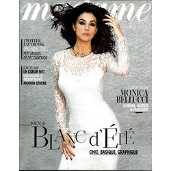 MADAME FIGARO n°21454 26/07/2013  Monica Bellucci/ Mode Blanc d'été/ Amanda Sthers