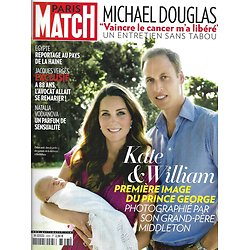 PARIS MATCH n°3353 21/08/2013  Kate & William/ Verges/ Vodianova/ Douglas/ One Direction
