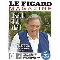 LE FIGARO MAGAZINE n°21477 23/08/2013  Gérard Depardieu/ La Provence/ Le Mississippi/ Cosaques/ Breivik par Obertone/ Alain Finkielkraut