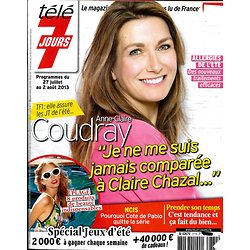 TELE 7 JOURS n°2774 27/07/2013  Anne-Claire Coudray/ Louis Funès/ Sara Martins/ Nicolas Batum