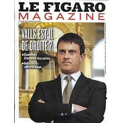 LE FIGARO MAGAZINE N°21484 30 AOUT 2013  MANUEL VALLS DE DROITE?