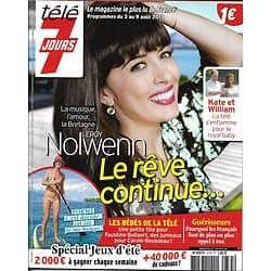 TELE 7 JOURS n°2775 03/08/2013  Nolwenn Leroy/ Kate & William/ Kristin Scott Thomas