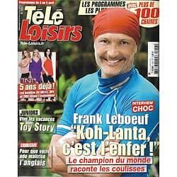 "TELE LOISIRS n°1257 03/04/2010  Frank Leboeuf ""Koh-Lanta""/ Toy Story/ TNT/ Marianne James"