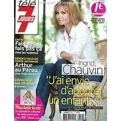 TELE 7 JOURS n°2844 29/11/2014  Ingrid Chauvin/ Arthur/ Isabelle Gélinas/ Shy'm/ Lucy Liu/ Romain Duris