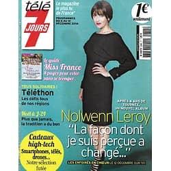 TELE 7 JOURS n°2845 06/12/2014  Nolwenn Leroy/ Miss France/ Lorie/ Laëtitia Milot/ Bérénice Bejo