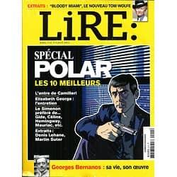 LIRE n°414 avril 2013  SPECIAL POLAR/ E.GEORGE/ BERNANOS/ GOLSH/ WOLFE