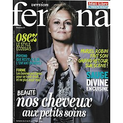 VERSION FEMINA n°596 02/09/2013  Muriel Robin/ Spécial cheveux/ La sauge en cuisine/ Mode écossaise