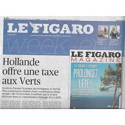 LE FIGARO n°21502 21/09/2013  Contribution climat-énergie/ Auto-entrepreneurs/ Cartier/ Programmes scolaires