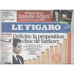 LE FIGARO N°20466 21 MAI 2010  DEFICITS/ JAGGER/ FEDERER&NADAL/ MAYA/ IMMOBILIER MAROC