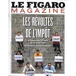 LE FIGARO MAGAZINE n°21513 04/10/2013  Les révoltés de l'impôt/ Vivian Maier/ Richard Ford/ Evasion: Maroc