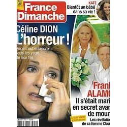 FRANCE DIMANCHE n°3451 19/10/2012  Céline Dion/ Frank Alamo/ Kate Middleton/ Richard Chamberlain/ Estelle Lefébure