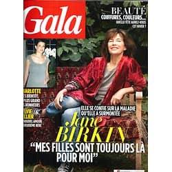 GALA n°1061 10/10/2013  Jane Birkin/ Sylvie Tellier/ Charlotte Casiraghi/ Pierre Palmade/ Michel Drucker/ Azzeddine Alaïa