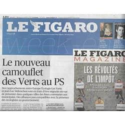 LE FIGARO n°21514 05/10/2013  Verts vs PS/ Floc'h/ Twitter/ Ibrahimovic/ Lampedusa