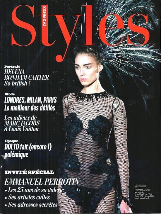 L'EXPRESS STYLES n°3250 16/10/2013  Spécial Perrotin/ Helena Bonham Carter/ Marc Jacobs