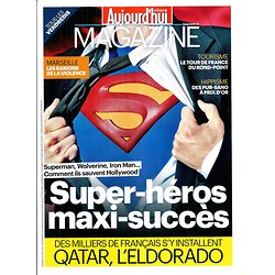 AUJOURD'HUI EN FRANCE MAGAZINE n°4297 16 AOUT 2013  SUPER-HEROS ET CINEMA/ QATAR