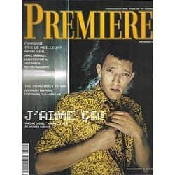 PREMIERE n°295 octobre 2001  Vincent Cassel/ Festival de Deauville/ Acteurs français