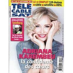 Télé Cable Sat n°1218 07/09/2013  Adrianan Karembeu/ Spielberg/ Mark Wahlberg/ Wallander