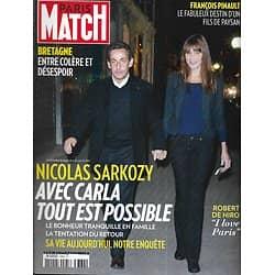 PARIS MATCH n°3362 24/10/2013  Sarkozy & Carla Bruni/ De Niro/ Pinault/ Brassens