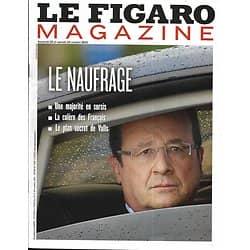 LE FIGARO MAGAZINE n°21531 25/10/2013  Hollande: le naufrage/ L'Afrique par Brandt/ Evasion: la Barbade/ Vallotton
