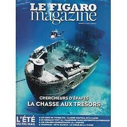 LE FIGARO MAGAZINE n°21768 01/08/2014  Chercheurs d'épaves/ La côte basque: glisse guidée/ Forêts californiennes/ Les conquérants: Cortés/ Insectes de France