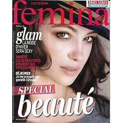 VERSION FEMINA n°601 07/10/2013  Spécial beauté/ Roberto Alagana/ Mode Glam/ Seniors/ Déjeuner au bureau