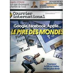 COURRIER INTERNATIONAL n°1200 31/10/ 2013  LES GEANTS DU NET: LE PIRE DES MONDES