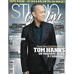 STUDIO CINE LIVE n°54 novembre 2013  Tom Hanks, un 3è Oscar?/ Michael Fassbender & Ridley Scott/ Jennifer Lawrence/ Guillaume Gallienne/ Schwarzenegger