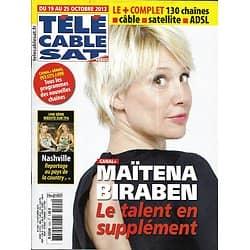 "Télé Cable Sat n°1224 18/10/2013  Maïtena Biraben/ ""Nashville""/ Sandra Bullock/ ""MasterChef"""