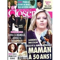 CLOSER n°442 29/11/2013  Laurence Boccolini/ Kate Middleton/ Nicolas Bedos & Doria Tillier/ Angelina Jolie/ Stéphane Plaza