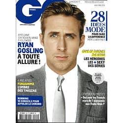 GQ n°85 mars 2015  Ryan Gosling/ Yakuzas/ Héroïnes tv sexy/ Running/ French economy/ True Detective