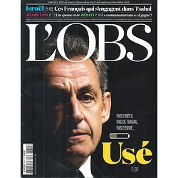 L'OBS N°2612 27 NOVEMBRE 2014  SARKOZY, USE/ ISRAEL TSAHAL/ COMMUNAUTARISME/ TAPIE