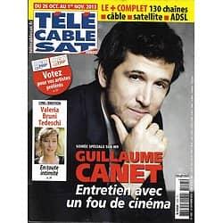 Télé Cable Sat n°1225 26/10/2013  Guillaume Canet/ Valeria Bruni Tedeschi/ Hoover/ Tonquédec