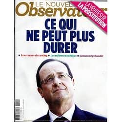LE NOUVEL OBSERVATEUR n°2559 21/11/2013  Hollande, ce qui ne peut plus durer/ Réseaux de prostitution