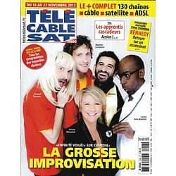 """Télé Cable Sat n°1228 1/11/2013  """"Comédie+"""" Arianne Massenet/ JFK -""""Killing Kennedy""""/ Guillaume Gallienne/ """"Scandal"""""""