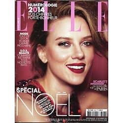 ELLE n°3547 20/12/2013  Scarlett Johansson/ Spécial Noël/ Katy Berry/ Joann Sfar