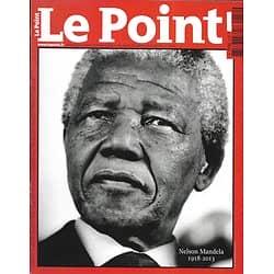 LE POINT n°2152 12/12/2013   Nelson Mandela 1918-2013/ Spécial joaillerie/ Sarkozy/ Chasseurs d'escrocs
