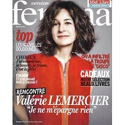 VERSION FEMINA n°610 09/12/2013  Valérie Lemercier/ D.I.S.C.O./ Noël à Cracovie/ Coiffures de fêtes/ Doudounes