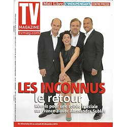 TV MAGAZINE n°21579 22/12/2013  Les Inconnus & Alessandra Sublet/ Julien Lepers/ Line Renaud