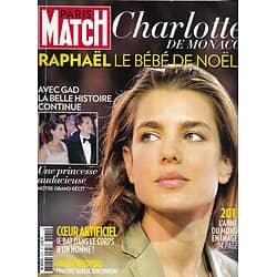 PARIS MATCH n°3371 25/12/2013  Charlotte Casiraghi/ Best of 2013/ Leonardo Dicaprio/ Kate Middleton/ Coeur artificiel