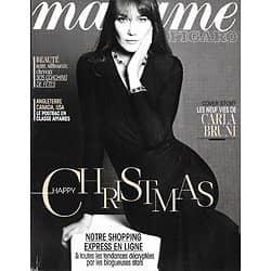 MADAME FIGARO n°21573 13/12/2013  Carla Bruni/ Happy Christmas/ Maud Fontenoy/ Céline Sallette