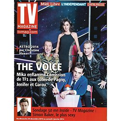 TV MAGAZINE n°21584 29/12/2013  The Voice- Mika, Jenifer, Garou & Florent Pagny/ Simon Baker