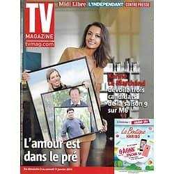 """TV MAGAZINE n°21590 05/01/2014  """"L'Amour est dans le pré"""" Karine Le Marchand/ """"La parenthèse inattendue""""/ """"Stars au grand air"""""""