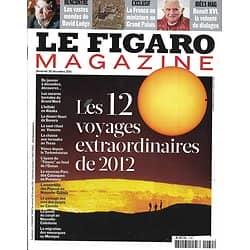 LE FIGARO MAGAZINE n°20967 30/12/2011  12 voyages extraordinaires/ David Lodge/ Pape Benoît XVI