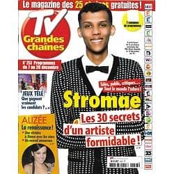 TV GRANDES CHAINES n°253 07/12/2013  Stromae/ Alizée/ Jeux Télé/ Stephen King