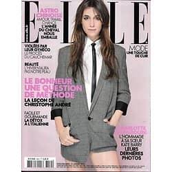 ELLE n°3552 24/01/2014  Charlotte Gainsbourg & Katy Berry/ Détox à l'italienne/ Trouver le bonheur